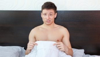 man worried about erection
