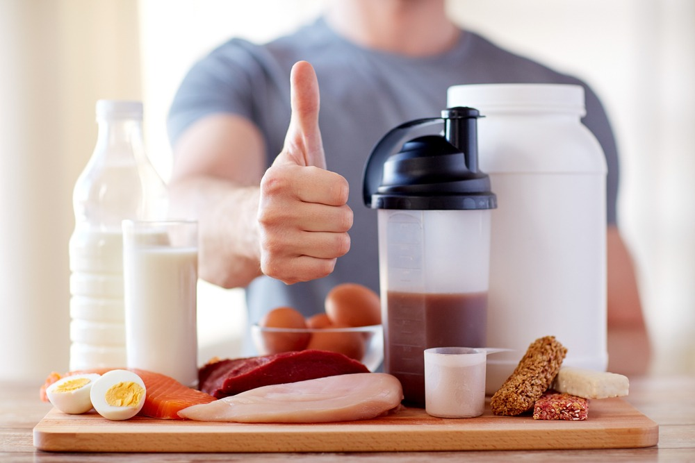 thumbs up protein rich food