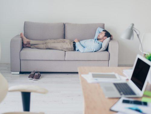 business man takes a nap