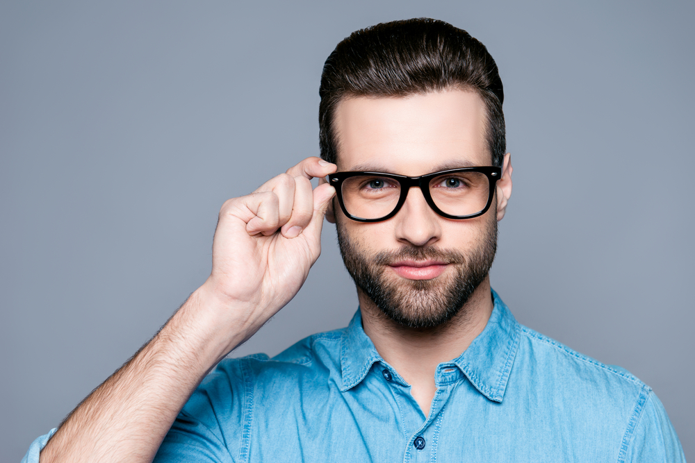smart and sexy guy with glasses