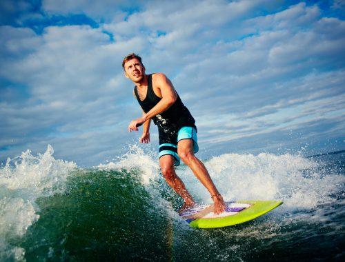 summer surfing