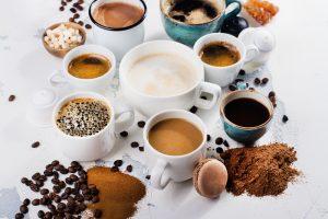 different coffee brews