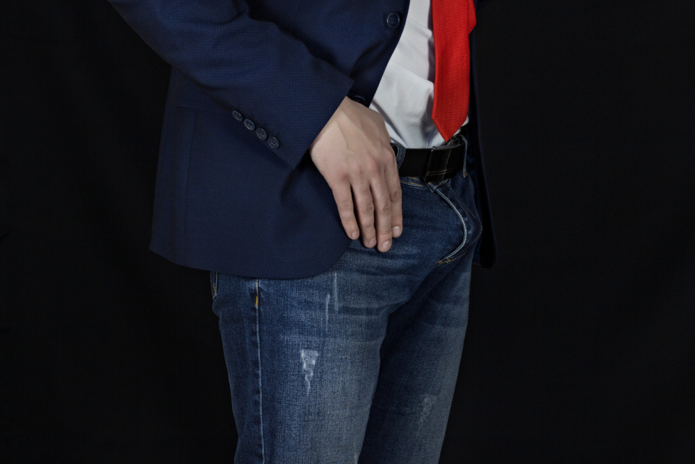 businessman with an erection