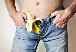 banana sticking out